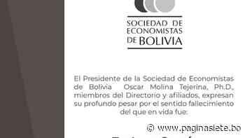 Enrique García Ayaviri, Ph.D. Q.E.P.D, SEBOL - Diario Pagina Siete