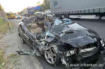 A3 bei Würzburg: Auto fährt in Stauende - Mann lebensgefährlich verletzt