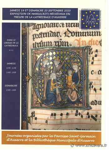 Exposition de manuscrits médiévaux Cathédrale Saint-Étienne d'Auxerre samedi 19 septembre 2020 - Unidivers