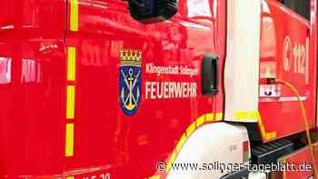 Feuerwehr löscht Lagerfeuer in Müngsten