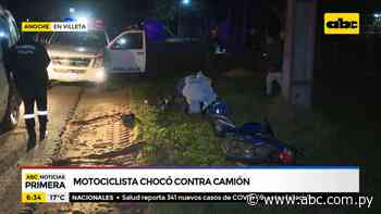 Motociclista chocó contra un camión en Villeta - ABC Noticias - ABC Color