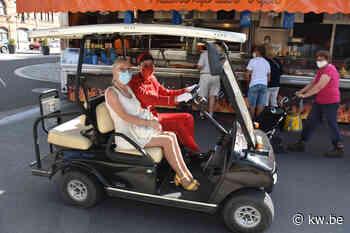 Golfkarretje voor minder mobiele mensen op zaterdagmarkt in Ieper slaat aan