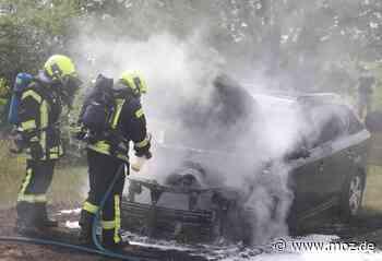 Feuer: Brennendes Auto in Schwedt - Kia mutmaßlich angezündet - Märkische Onlinezeitung