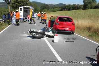 Unfall bei Rothselberg: Motorradfahrerin schwer verletzt - Lauterecken-Wolfstein - Wochenblatt-Reporter