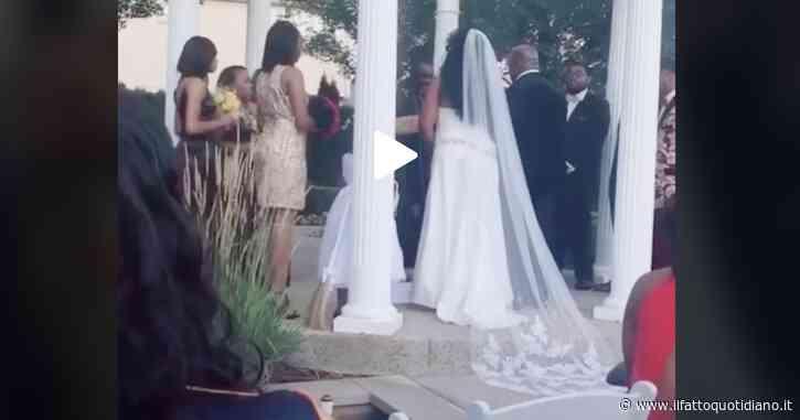 """L'amante dello sposo interrompe il matrimonio: """"Sono incinta, questo è tuo figlio"""". La scena immortalata su TikTok"""