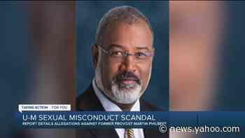 Report details allegations against former UM provost - Yahoo News
