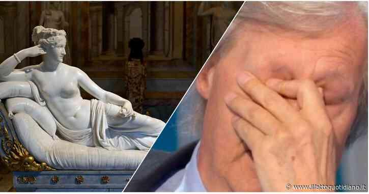 """""""Per farsi un selfie con Paolina Borghese un turista austriaco ha rotto una statua di Canova"""": la denuncia di Vittorio Sgarbi"""