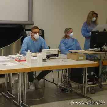 Testzentrum für Reiserückkehrer am FMO in Greven - RADIO RST