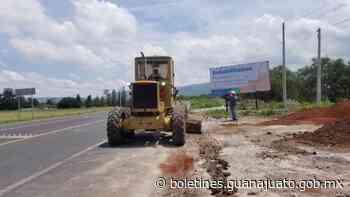Invierte SICOM 106 mdp en conservación de carreteras zona Celaya - Noticias Gobierno del Estado de Guanajuato