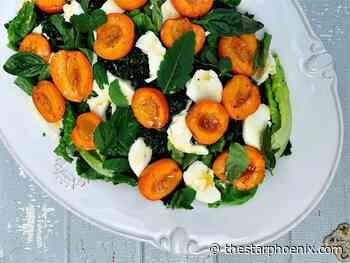 Kohlman: Roasted apricot salad with fresh mozzarella