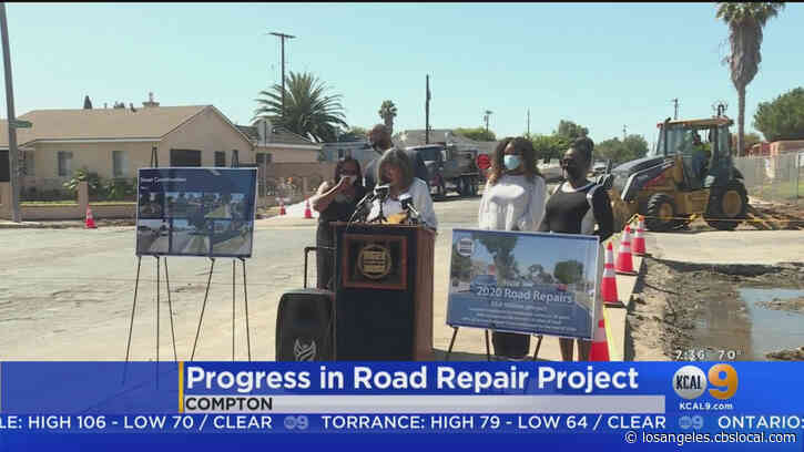 Compton Makes Progress In Road Repair Project
