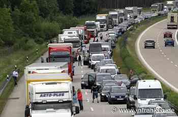 A6/Schwabach: Unfall mit fünf Autos – 15 Kilometer Stau auf Autobahn - inFranken.de