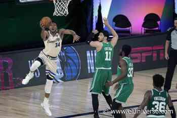 Giannis Antetokounmpo y los Bucks vuelven con victoria sobre Celtics - El Universo