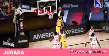 LeBron James le dio la victoria a los Lakers y fue el mejor de la noche - Primicias