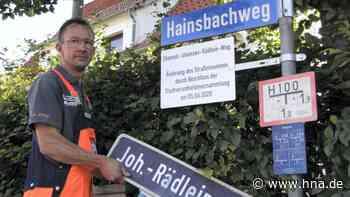 Neuer Straßenname: Nazi Rädlein verschwindet aus Stadtbild - hna.de