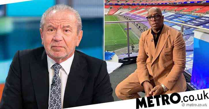 Lord Alan Sugar faces backlash for 'misjudged' tweet about Ian Wright's suit