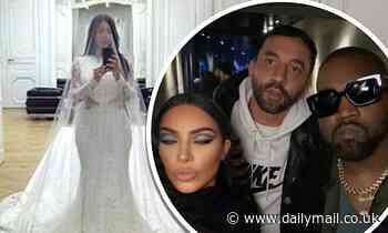 Kim Kardashian shares snaps of herself trying on her wedding dress
