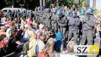 Pandemie: Demo gegen Corona-Maßnahmen: Polizei besetzt Bühne