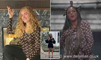 Adele shows off her seven stone weight loss as she supports pal Beyonce's visual album Black Is King