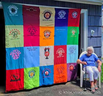 A quilt marking a lifetime of Festival volunteering - By Stephen Betts - Courier-Gazette & Camden Herald