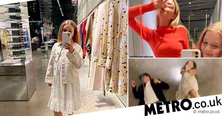 Victoria Beckham shares snaps of fashionista in the making Harper after shopping spree