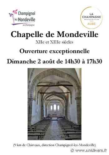 Ouverture exceptionnelle de la Chapelle de Mondeville dimanche 2 août 2020 - Unidivers