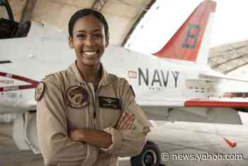 U.S. Navy's first Black female fighter pilot gets her Wings of Gold