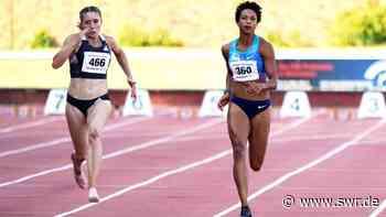 Weitspringerin Malaika Mihambo sprintet in Weinheim auf Platz vier - SWR