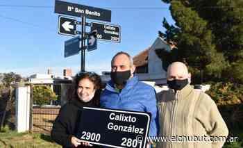 Colocan nueva nomenclatura en el San Benito en homenaje a Calixto González - Diario EL CHUBUT