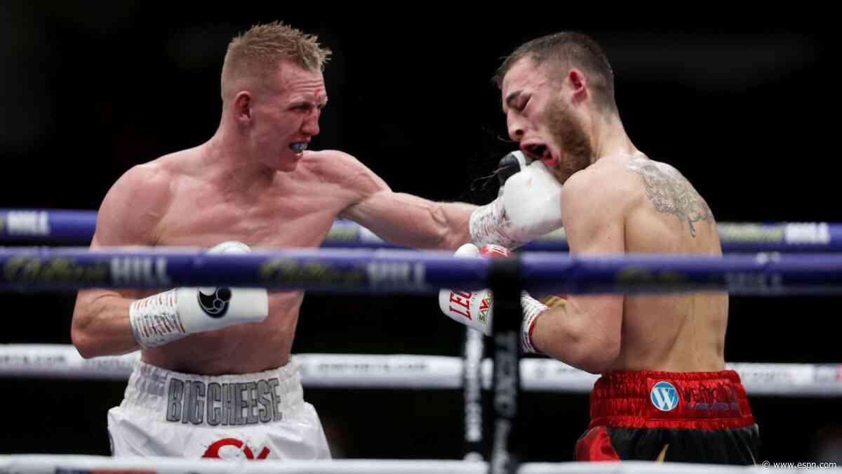 Cheeseman beats Eggington in Hearn's back garden