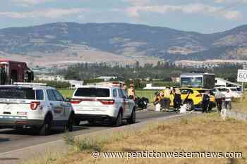 Motorcycle collides with taxi in Kelowna - Pentiction Western News