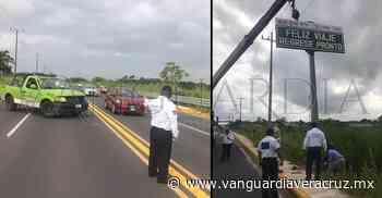 Realiza Tránsito del Estado colocación de señalética en Nanchital - Vanguardia de Veracruz