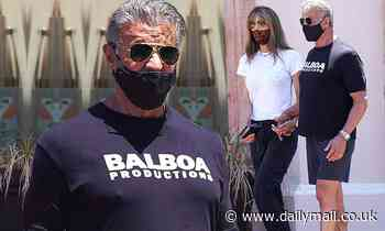Sylvester Stallone, 74, puts on buff display as he grabs lunch with wifeJennifer Flavin in Malibu