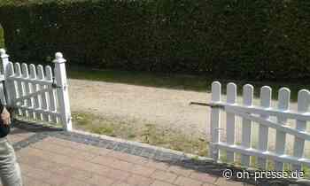 Rätselhaftes Verschwinden einer weiß lackierten Gartenpforte in Lensahn - Dennis Angenendt