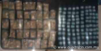 Con 137 dosis de droga arrestan a 2 en Zamora - Quadratín - Quadratín Michoacán