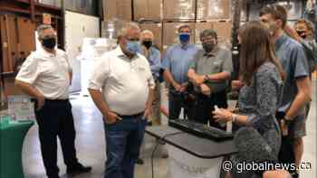 Premier Ford visits Peterborough company and Bobcaygeon's Kawartha Dairy on Thursday   Watch News Videos Online - Globalnews.ca
