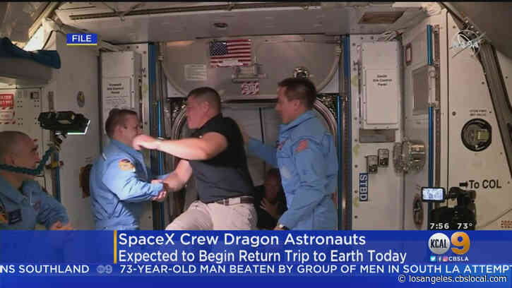 SpaceX's Crew Dragon Astronauts Expected To Begin Return Trip To Earth Saturday
