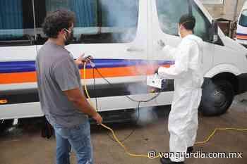 Sanitizan unidades y estaciones de pasaje en Sabinas - Vanguardia.com.mx