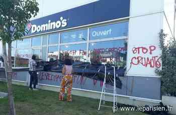 Gennevilliers : des tags antispécistes et des litres d'urine sur le siège de Domino's pizza - Le Parisien