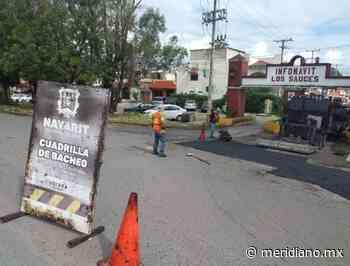 Gobierno estatal continúa apoyando con bacheos al municipio de Tepic - Meridiano.mx