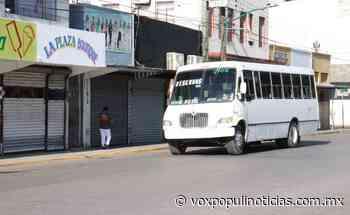 Desinfectan Transporte Público en Nuevo Laredo - Vox Populi