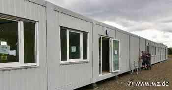 Primusschule in Viersen: Die ersten Container für die Siebtklässler stehen - Westdeutsche Zeitung
