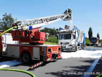 Harsewinkel: Müllwagen steht in Flammen - Die Glocke online