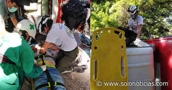 Dos lesionados tras vuelco de camión en carretera a Santa Ana - Solo Noticias