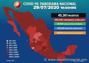 408 MIL POSITIVOS AL COVID EN EL PAIS - El Monitor de Parral