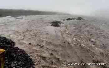 Nueva crecida del río Upano destruye parte de la carretera Macas-Puyo - El Comercio (Ecuador)