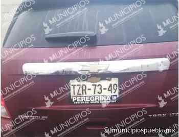 Delincuentes abandonan camioneta robada en Tecamachalco - Municipios Puebla