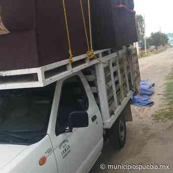 Roban camioneta cargada con muebles en Tecamachalco - Municipios Puebla