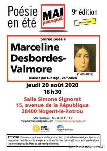 Soirée poésie Marceline Desbordes-Valmore jeudi 20 août 2020 - Unidivers