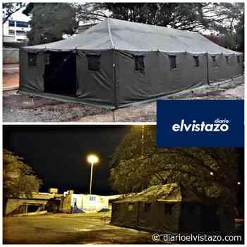 Instalan dos carpas militares en estacionamiento del hospital de El Tigre - Diario El Vistazo